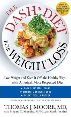 Presents the DASH (Dietary Approaches to Stop Hypertension) program for lasting weight loss, explaining how to calculate calorie targets and adapt favorite recipes while lowering health risks.