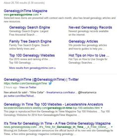 Google Limitations on Genealogy Searches | Genealogy in Time