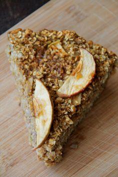 Gluten Free Baked Apple-Pumpkin Oatmeal Breakfast Pie   bsinthekitchen.com #oatmeal #breakfast #bsinthekitchen