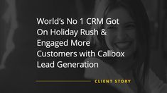 The Client is the world's number one cloud-based software company that provides customer relationship management service and a complementary suite of enterprise applications focused on customer service, marketing automation, analytics, and application development. Enterprise Application, Customer Relationship Management, Marketing Automation, Cloud Based, Application Development, Service Marketing, Lead Generation, Business Opportunities, Case Study