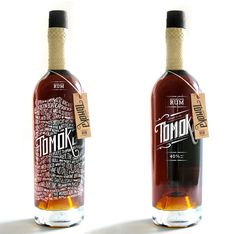 Tomoka rum bottle | Designer: Arcadebox - http://arcadeboxcreative.com