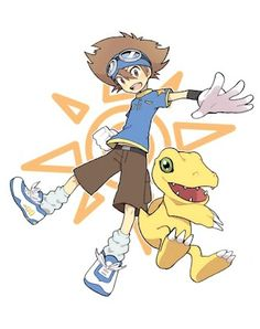 Tai and Agumon - Digimon Adventure