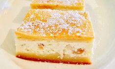 PRAJITURA TURNATA CU BRANZA SI STAFIDE Sweet Treats, Cheesecake, Food And Drink, Pudding, Dinner, Cooking, Desserts, Gardening, Sweets