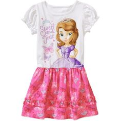 Disney Sofia the First Baby Toddler Girl Tee Shirt Dress