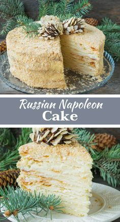 Russian Napoleon Cake A lot of thin crispy cake layers greased with gentle vanilla cream – that is the ideal Napoleon cake. It will be suitable for any holiday and will always be one of the most popular and favourite desserts. Napoleon Dessert, Napoleon Cake, Napoleon Pastry, Pavlova, Vanilla Cream, Vanilla Cake, Cheesecakes, Napoleons Recipe, Cake Preparation