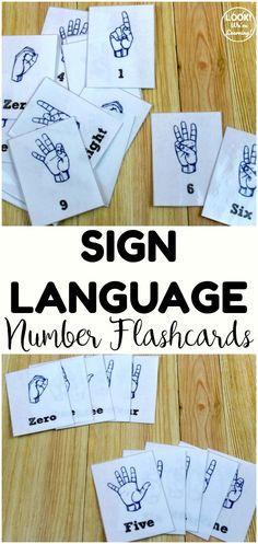 Teach kids to count from zero to nine in American Sign Language with these printable sign language number flashcards! Great for math centers too! Sign Language Games, Sign Language Phrases, Learn Sign Language, Second Language, Number Flashcards, Flashcards For Kids, Kindergarten Lesson Plans, Kindergarten Activities, Preschool Ideas