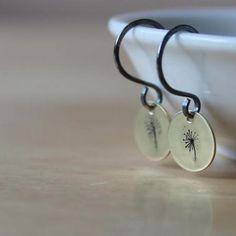 Petite stamped handmade earrings