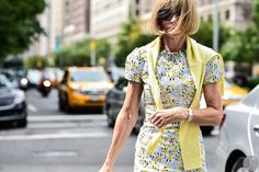 Anna Wintour before Tommy Hilfiger Collection on New York Fashion Week S/S 2015