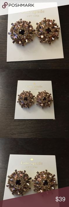 Kate Spade earrings Kate Spade ♠️ Trellis Blooms purple multi-color earrings. They have so much detail. Very beautiful. Brand new, never worn and 100% authentic kate spade Jewelry Earrings
