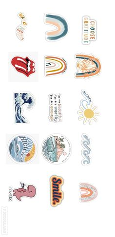 aesthetic stickers printable / k e m i
