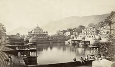 BOURNE & SHEPHERD  Two views of the City Palace tank at Alwar possibly by Colin Murray, 1870s