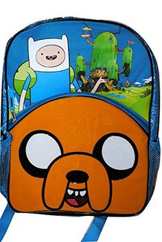 Adventure Time Backpack 16  Adventure Time Bookbag Backpack >>> Read more reviews of the product by visiting the link on the image.