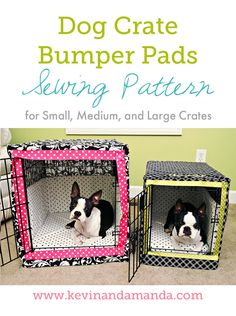 DIY matching cushions, bumpers and covers for your pet's crate! Like the cover idea
