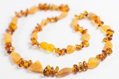 Baltic Amber Necklace. Polished and raw amber by LuxuryBalticAmber, $19.57