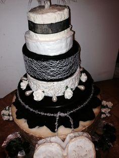 Medium wedding cake made of cheese