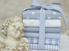 Fat quarter fabric bundle  100 cotton  dove by fabricsandfrills, $29.40
