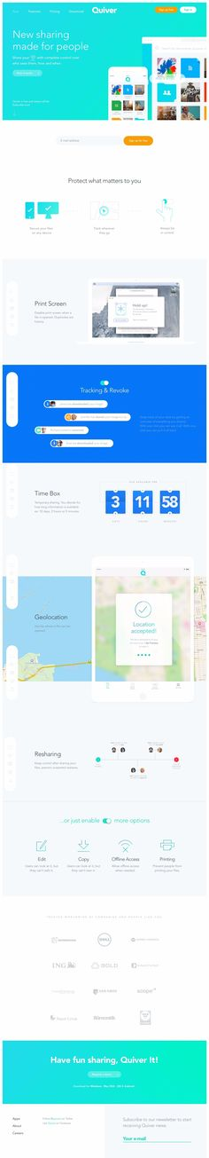 Quiver landing page design inspiration - Lapa Ninja App Landing Page, Landing Page Design, Flat Web Design, Website Header, Corporate Website, Ui Web, Quiver, Best Web, Web Design Inspiration
