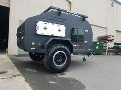 TerraDrop ALPHA is the next level of evolution in off-road capable teardrop trailers. We& taken the already very capable and well-appointed TerraDrop platform, and made it even better with some key. Off Road Teardrop Trailer, Small Camping Trailer, Teardrop Camping, Teardrop Camper Trailer, Off Road Camper Trailer, Camper Trailers, Pickup Truck Camper Shell, Truck Camper Shells, Expedition Trailer