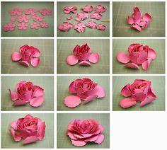 Bits of paper 3d paper flowers continued diy kvty vyroben dublin elle and hybrid paper tea roses mightylinksfo