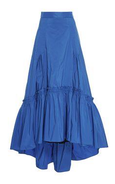 Peter Pilotto Bright Blue Taffeta Long Skirt $2,080