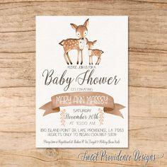 Deer Baby Shower Invitation Bambi Baby Shower Invitation