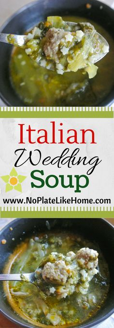 A traditional and authentic Italian Wedding Soup with mini meatballs, escarole (spinach option) and pastina in a homemade chicken broth. Gluten free option. Perfect for Christmas dinner.