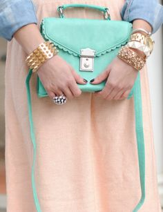 pretty pastels and gold!