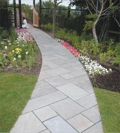 bluestone walkways with cement steps - Google Search