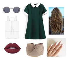"""""""Street style"""" by gracieneland12 on Polyvore featuring Meli Melo, Oliver Peoples, TOMS and Lime Crime"""