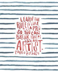Typographic Quotes #50 #quote #picasso #typography