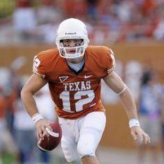 Colt McCoy & Texas Longhorns - costumed Bevo mascot   University of Texas ...