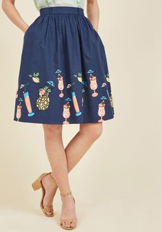 Tiki Time A-Line Skirt in 1X, #ModCloth