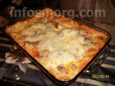 Sausage lasagna - so many layers of awesome.