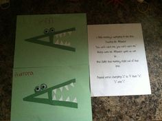 Letter A project and song to go along with it.