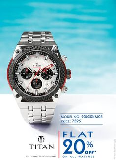 Choose your favorite #watches from #Titan,now available at 20% off. Visit online Store:http://goo.gl/CjqnlJ