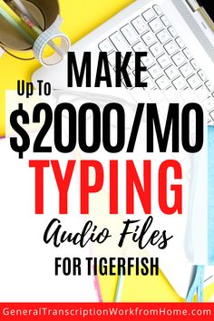 Tigerfish Transcribing does NOT require previous transcription experience and accepts beginners for general and legal transcription work from home. This is a good transcription company to work for. Transcription work includes interviews, law enforcement and documentaries focus groups. #transcription  #transcriptionwork #transcriptionjobs #onlinejobs #remotejobs  #workathomejobs #workfromhome #sidehustles Typing Jobs From Home, Online Typing Jobs, Online Side Jobs, Best Online Jobs, Start A Business From Home, Cash From Home, Work From Home Moms, Make Money From Home, Transcription Jobs For Beginners