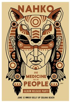Nahko and Medicine for the People  Belly Up Tavern 6/12/2016 Artist: Scrojo 13 x 19 inches