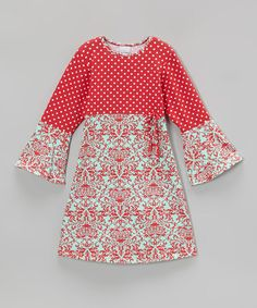 Another great find on #zulily! Cranberry Holly Hippie Dress - Infant, Toddler & Girls #zulilyfinds