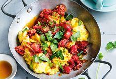 Tomaten-Eierspeis mit Ingwer und Sojasauce