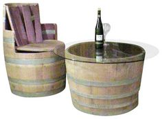 Our oak wood wine barrel pedestal tables are made from genuinely recycled wine barrels from California. Has an opening and a shelf at the bottom. A larger