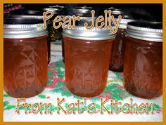 Kat's Canning Tidbits: Pear Jelly