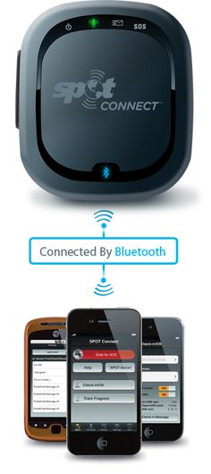 pair your smartphone with SPOT Connect, and get connected to a global satellite network that lets you send messages and GPS coordinates from virtually anywhere on the planet Emergency Preparation, Emergency Preparedness, Emergency Response, Tech Gadgets, Cool Gadgets, Camping Gear, Backpacking, Satellite Network, Bluetooth