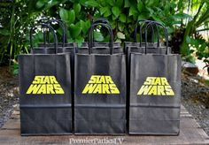**All items are Made To Order. Bags typically take days to make. **Its IMPORTANT that you give us a need by date/party date to get it to Star Wars Birthday, Star Wars Party, Birthday Bash, Birthday Stuff, Birthday Ideas, Girl Dinosaur Birthday, Party Favor Bags, Stars, Angry Birds