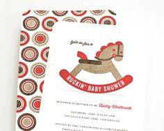 Baby Shower Invitation Boy or Girl Shower Invite // by PeraPress, $15.00