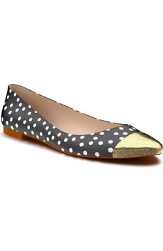Shoes of Prey Cap Toe Ballet Flat (Women) available at #Nordstrom