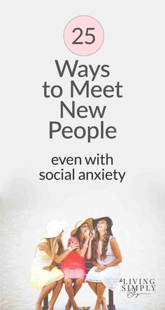 Meeting new people is tough–especially if you struggle with social anxiety. Try these 25 ways to meet new people with common interests in smaller groups. Anxiety Coping Skills, Anxiety Tips, Anxiety Help, Stress And Anxiety, Health Anxiety, Social Anxiety Quotes, Anxiety Facts, Anxiety Therapy, Friendship