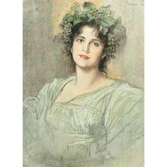 Die Kunst 1899 Hebe Canvas Art - Friedrich von Kaulbach (18 x 24)