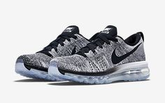 $300 Shipped Nike Air Max Flyknit Oreo Size 15 Racer Black White Grey #Nike #RunningCrossTraining