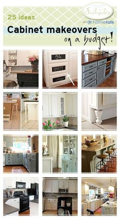 Cottage kitchen makeover painted kitchen cabinets for Cheap ways to update kitchen cabinets