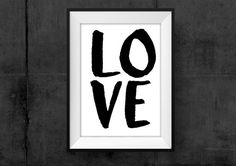 Love Wall Art Home Decor Poster Instant by HearMeRoarQuotes
